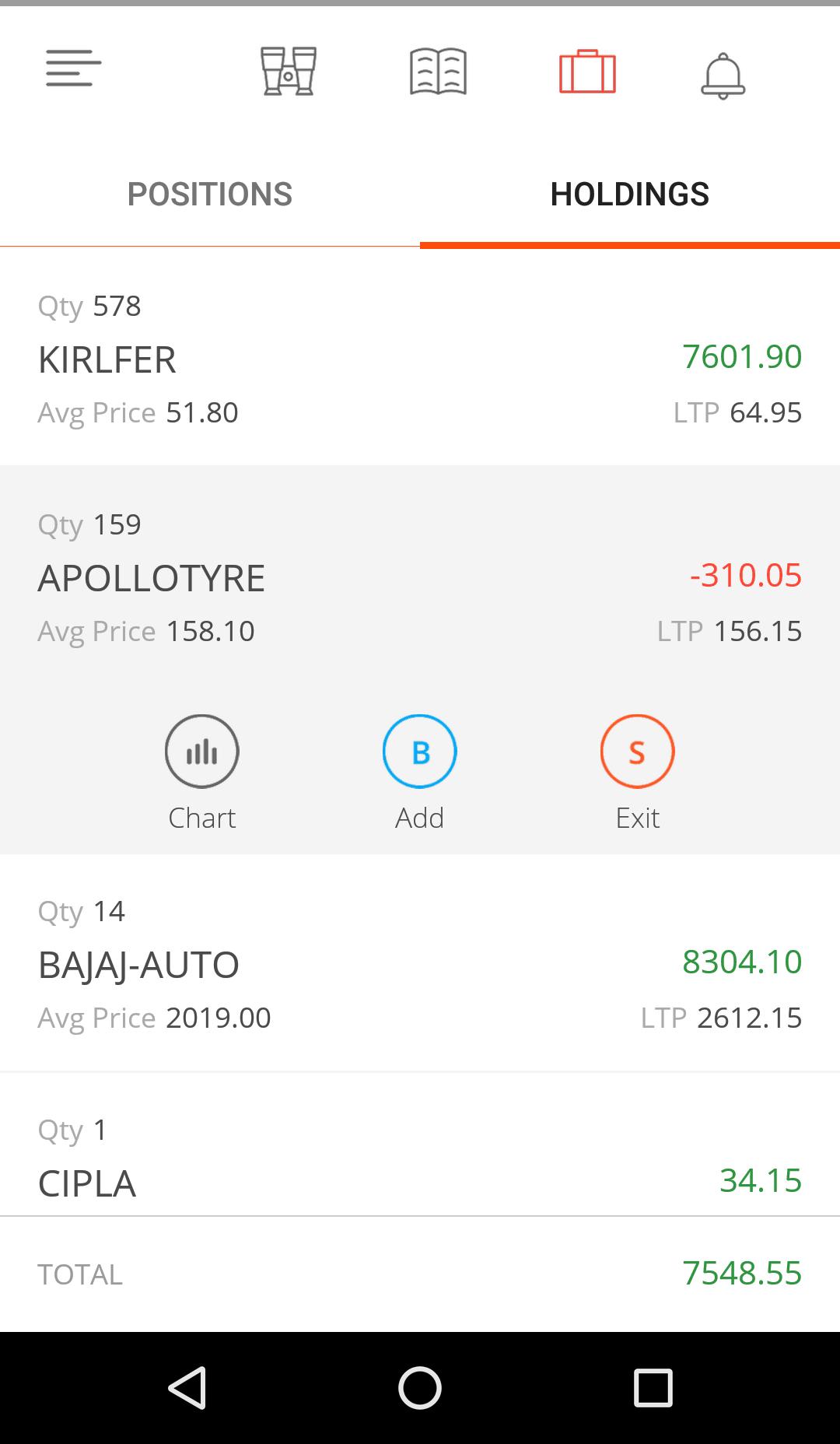 Zerodha Kite App Other Features