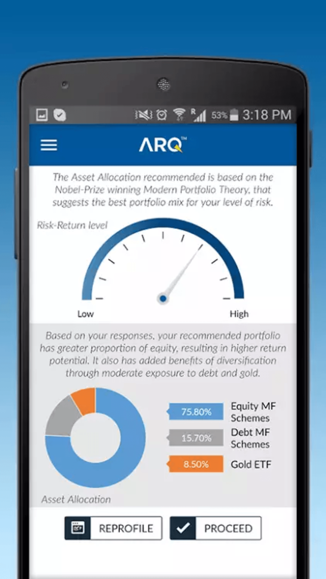 Angel Broking App ARQ Section