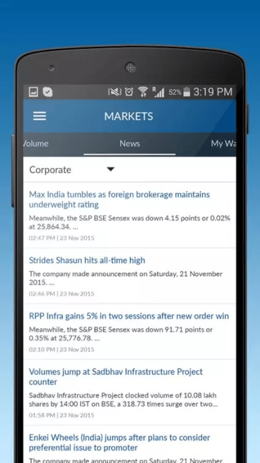 Angel Broking App Market News