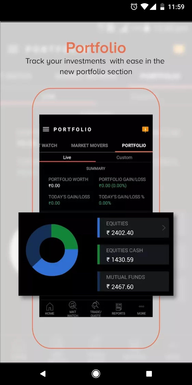 Sharekhan Mobile App - Portfolio