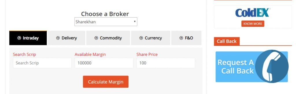 Stock Broking Leverage Calculator