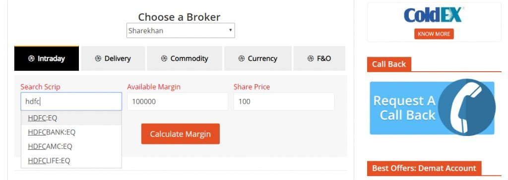 Stock Broking Limit Calculator