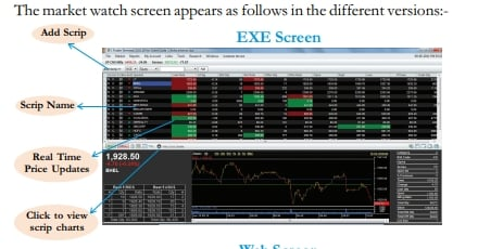 IIFL Trader Terminal exe screen