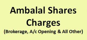 Ambalal Shares & Stocks Charges