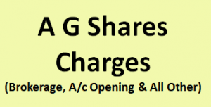 A G Shares & Securities Charges
