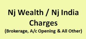 Nj Wealth / Nj India Charges