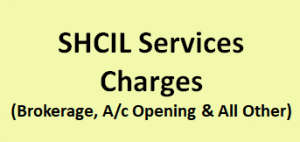 SHCIL Services Charges