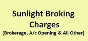 Sunlight Broking Charges