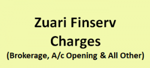 Zuari Finserv Charges