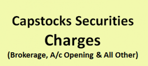 Capstocks Securities Charges