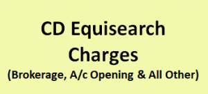 CD Equisearch Charges