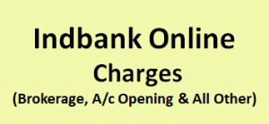 Indbank Online Charges