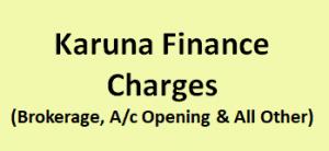 Karuna Finance Charges