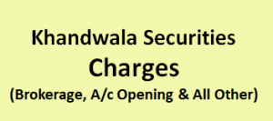 Khandwala Securities Charges