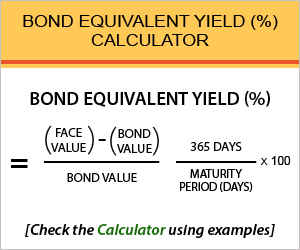 Bond Equivalent Yield (%) calculator