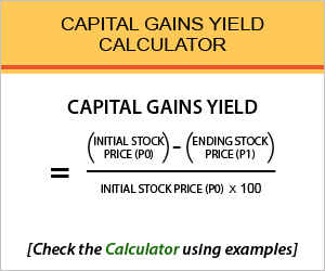 Capital Gains Yield Calculator