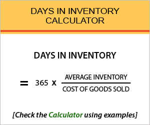 Days in Inventory Calculator